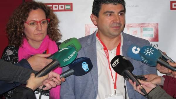 Emilio Fernández, secretario general de CCOO en Huelva.