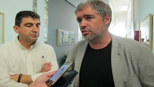 El secretario general de CCOO, Unai Sordo, en Huelva.