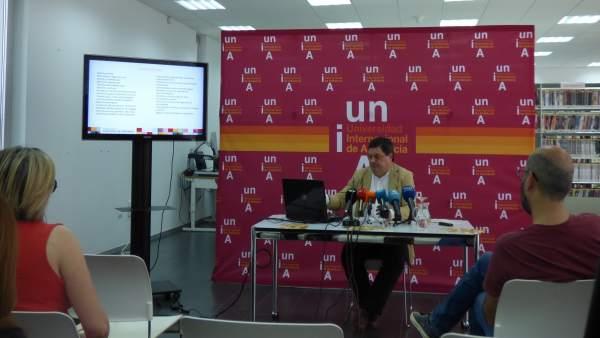 El vicerrector de la UNIA en La Rábida, Agustín Galán García.