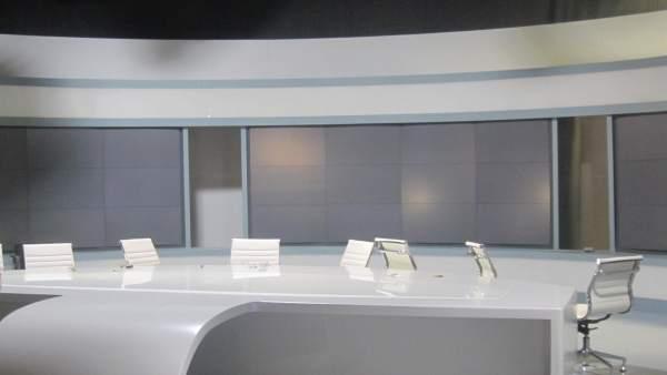 Imagen de archivo de un plató de la radiotelevisión pública