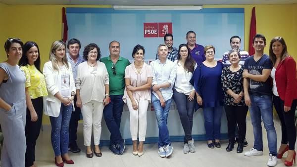 El secretario general del PSOE aborda AP68 en Calahorra