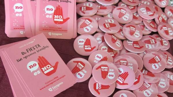 Marchandising de la campaña 'No es no'