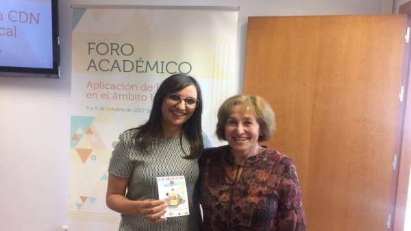 A la izquierda, Susana Garrido.