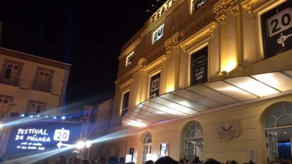 TEatro Cervantes, Festival Cine de Málaga 20 edición