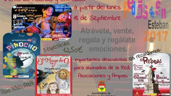 Cartel de la programación de Pedrajas