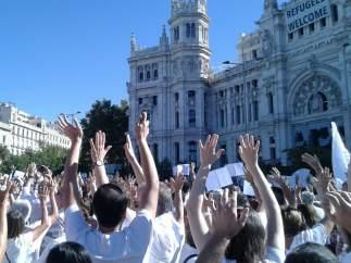 Manifestación en Madrid en favor del diálogo