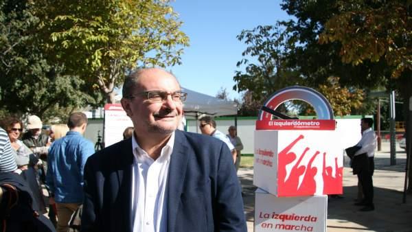 El secretario general del PSOE-Aragón, Javier Lambán.