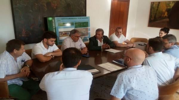 Delegado territorial de Medio Ambiente   y el alcalde de Villatorres