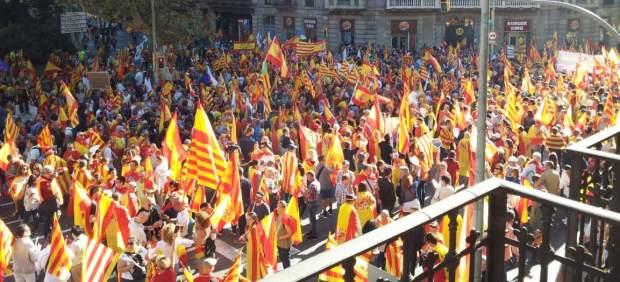 Manifestación contra la independencia de Cataluña