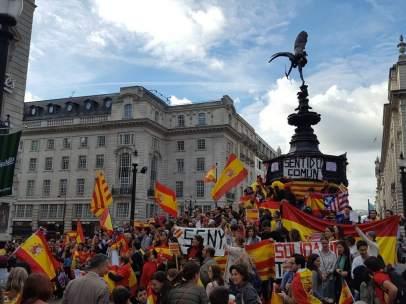 Manifestación por la unidad de España en Londres