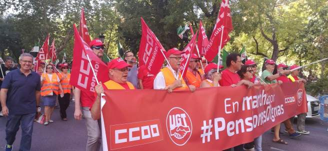 Jubilados y pensionistas de CC.OO. y UGT