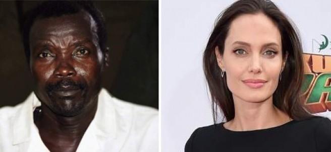 Joseph Kony y Angelina Jolie