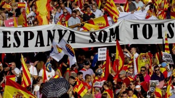 Manifestación antiseparatista en Barcelona