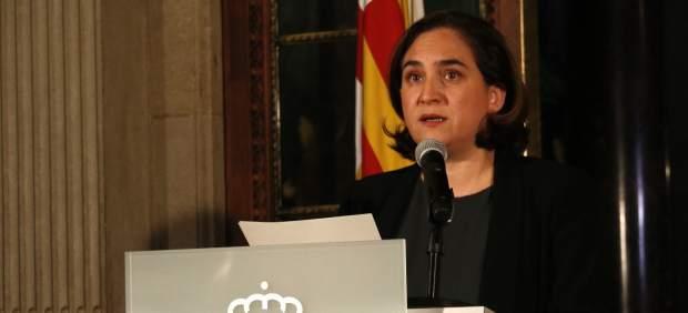 La alcaldesa Ada Colau en una declaración institucional