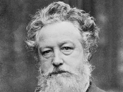 Fotografía de William Morris realizada por Emery Walker, c. 1887