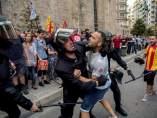 Contramanifestación ultra en Valencia