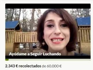 Campaña de recaudación por Internet de Juana Rivas