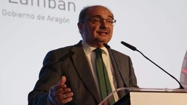Javier Lambán, en un acto este martes en Teruel