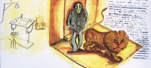 Uno de los dibujos de 'El libro de los Sueños' de Fellini
