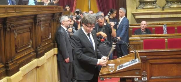 Puigdemont ante el Parlament este martes