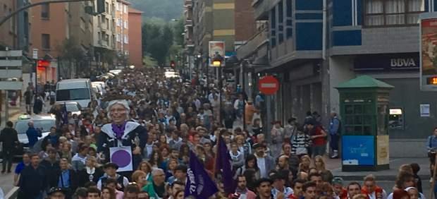 Manifestación en Basauri contra las agresiones en fiestas