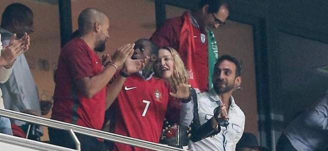 Madonna, con la selección de Portugal