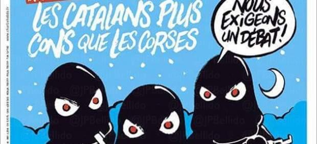 """El'Charlie Hebdo' se burla del independentismo: """"Los catalanes son más tontos que los corsos"""""""