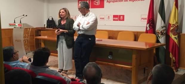 Irene García en reunión con el PSOE de Cádiz