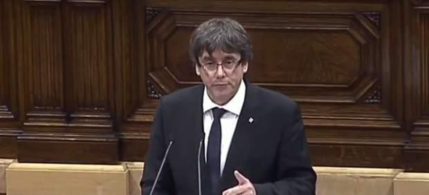 Puigdemont suspende unas semanas la proclamación de la independencia
