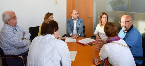 El PSOE en la Diputación se reúne para abordar el Centro Guadalmedina