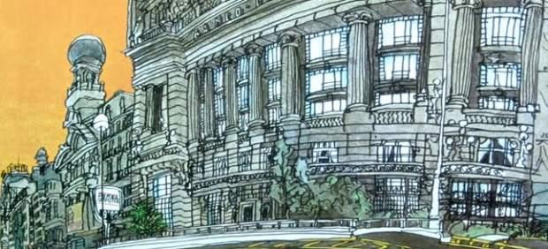 Ilustración de Alfredo para 'Teoría de Madrid', de Francisco Umbral.