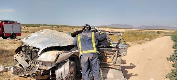 Imagen del vehículo accidentado