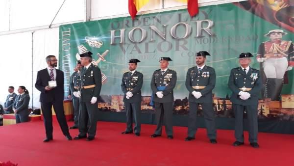 Acto de reconocimiento al 061 por la Guardia Civil