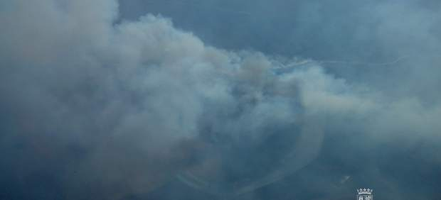 León.- Incendio en la Sierra de La Cabrera