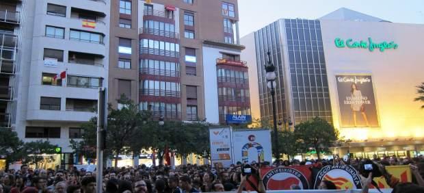 Manifestación en València para pedir la dimisión de Moragues