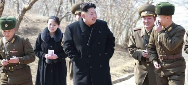 Kim Jong-un, con su hermana, Kim Yo-jong