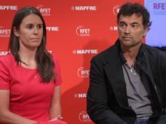 Anabel Medina y Sergi Bruguera