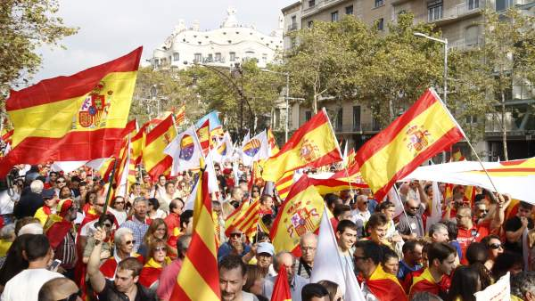 Manifestación del 12-O en Barcelona
