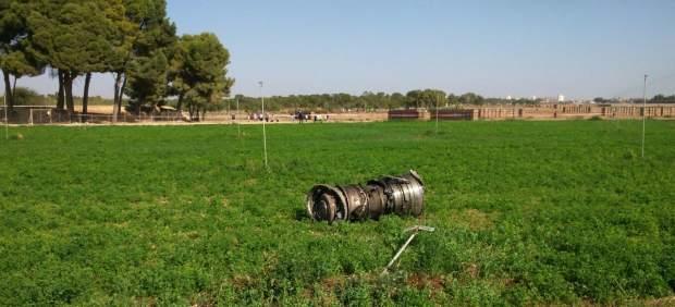 Una pieza del Eurofighter accidentado en Los Llanos