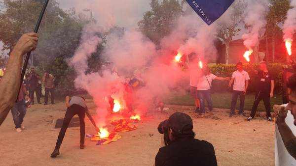 quema esteladas barcelona