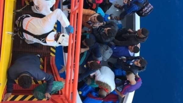 Salvamento Marítimo en el rescate