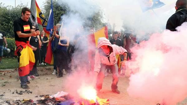 Manifestación ultraderecha Barcelona