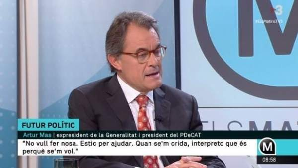 El expresidente de la Generalitat Artur Mas en TV3