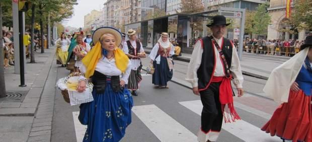 Ofrenda de Frutos a la Virgen del Pilar en Zaragoza