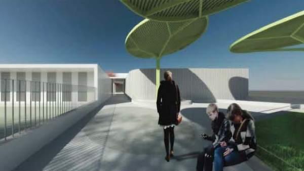 Entrada en el nuevo proyecto de CEIP en Olivares
