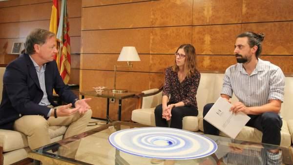 Reunión del delegado del Gobierno con representantes de la Unió de Periodistes
