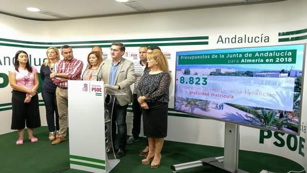 PSOE presenta los presupuestos de la Junta para Almería en 2018