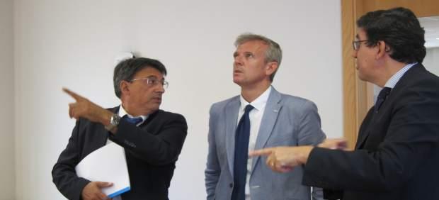 El vicepresidente de la Xunta, Alfonso Rueda, en Vigo
