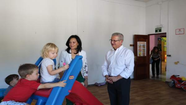 Crespín y Cabrera en la Escuela Infantil