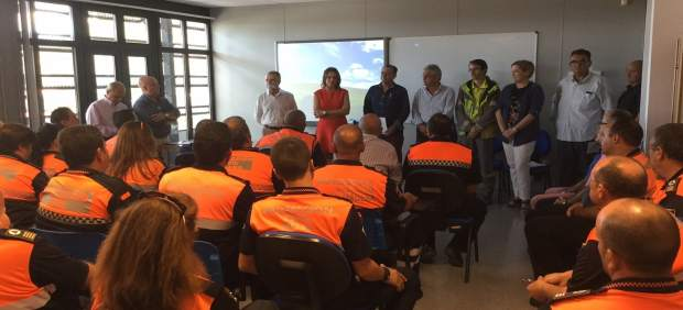 Reunión preparatoria de las jornadas de voluntarios de Protección Civil.
